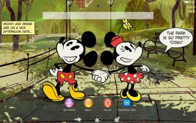 XPERIA™ Mickey New York Theme