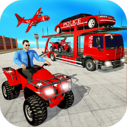 US Police Quad Bike Car Transporter Gamesс