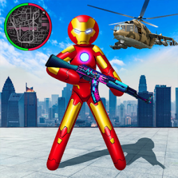 Iron Stickman Rope Hero War Gangstar OffRoad